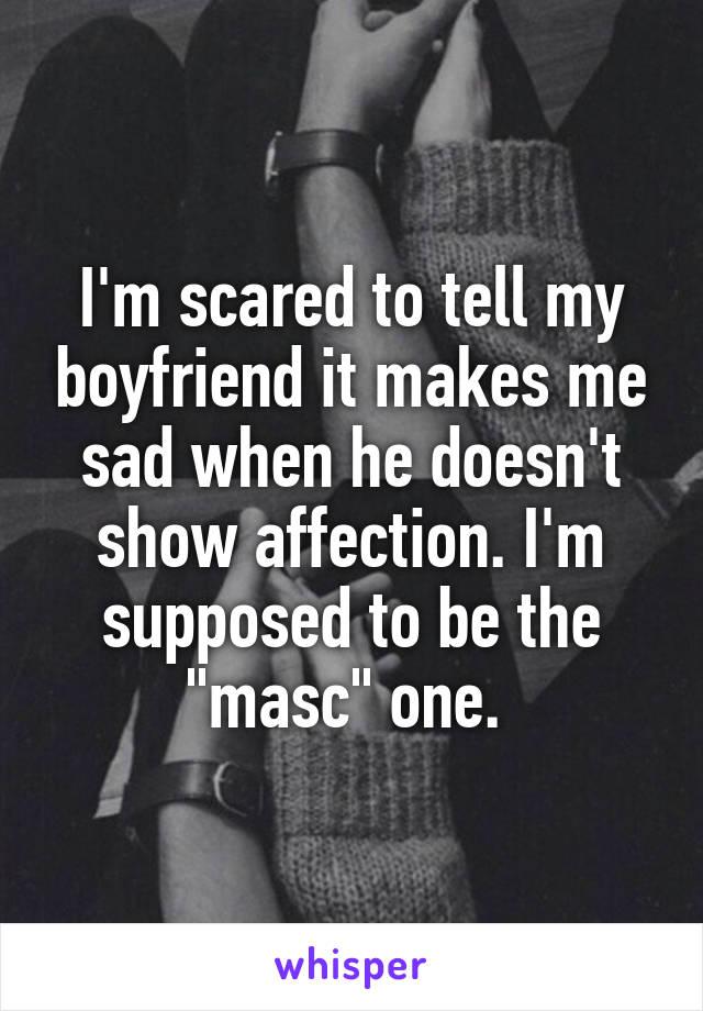 Showing affection to boyfriend