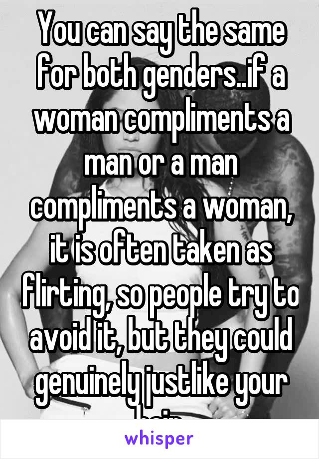 when a man compliments a woman