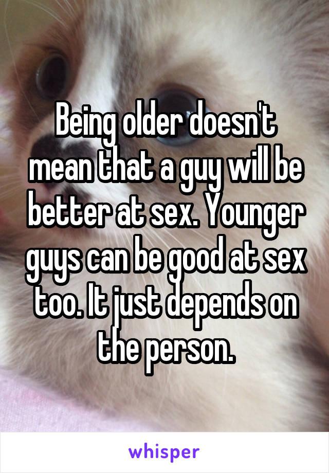 Will i be good at sex
