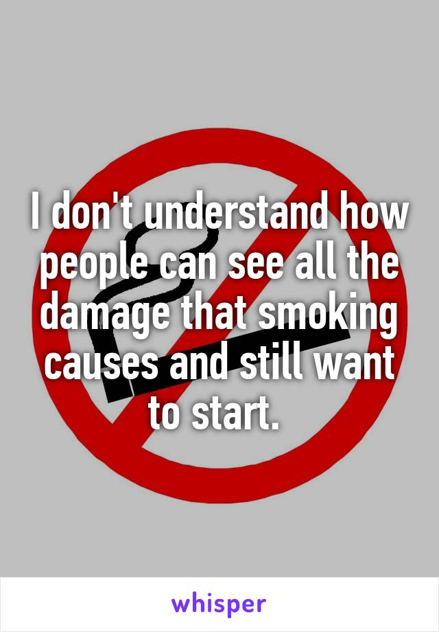 the damage that smoking does on people Smoking and eye damage this fear of blindness may be able to be used to successfully encourage people to quit smoking and discourage people.