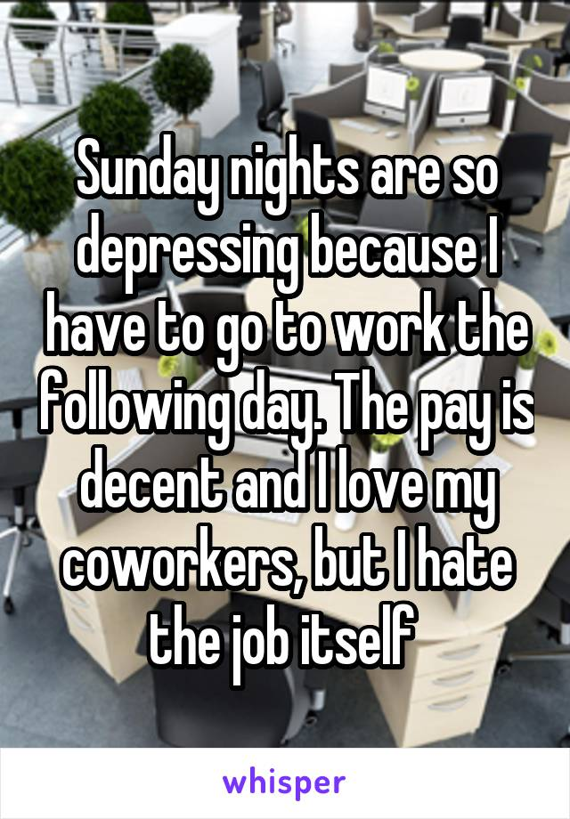 why are sundays so depressing
