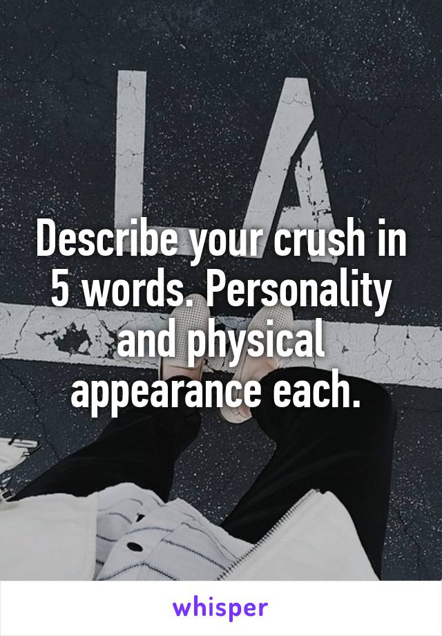 physical appearance personality