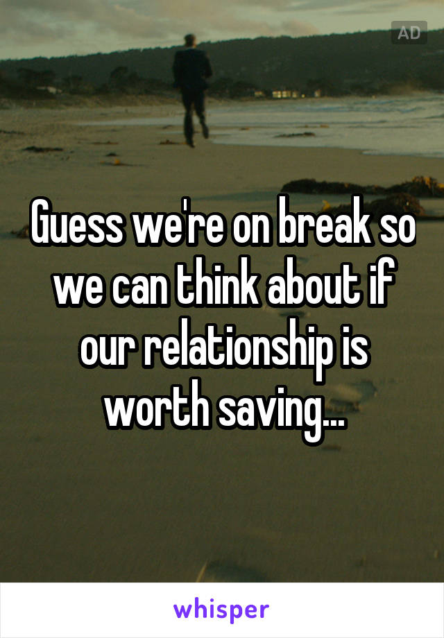 Is our relationship worth saving