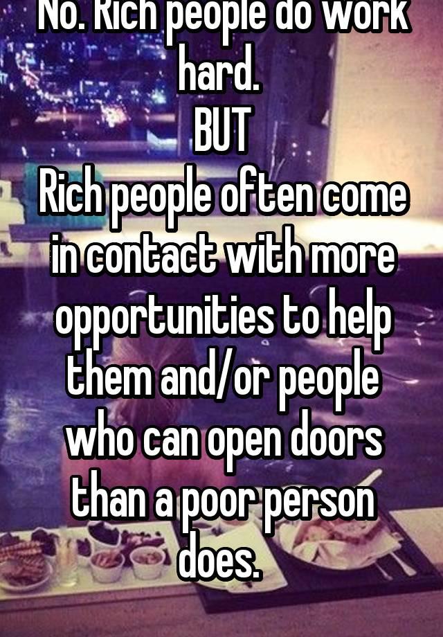 豊かな人々に連絡する方法