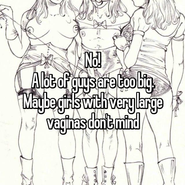 Standing vaginas Very large