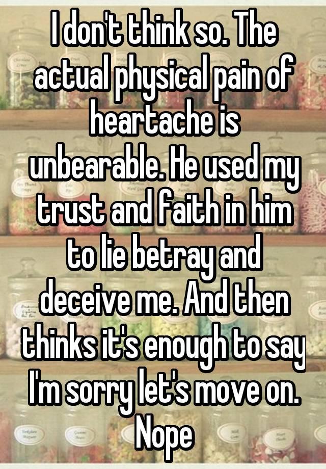 heartache physical pain