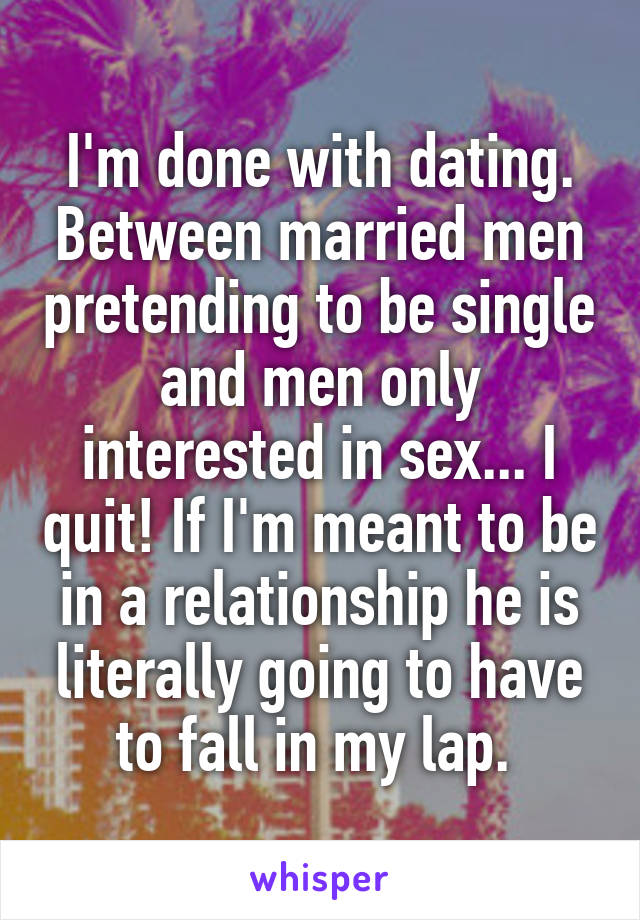 How To Quit Dating A Married Man