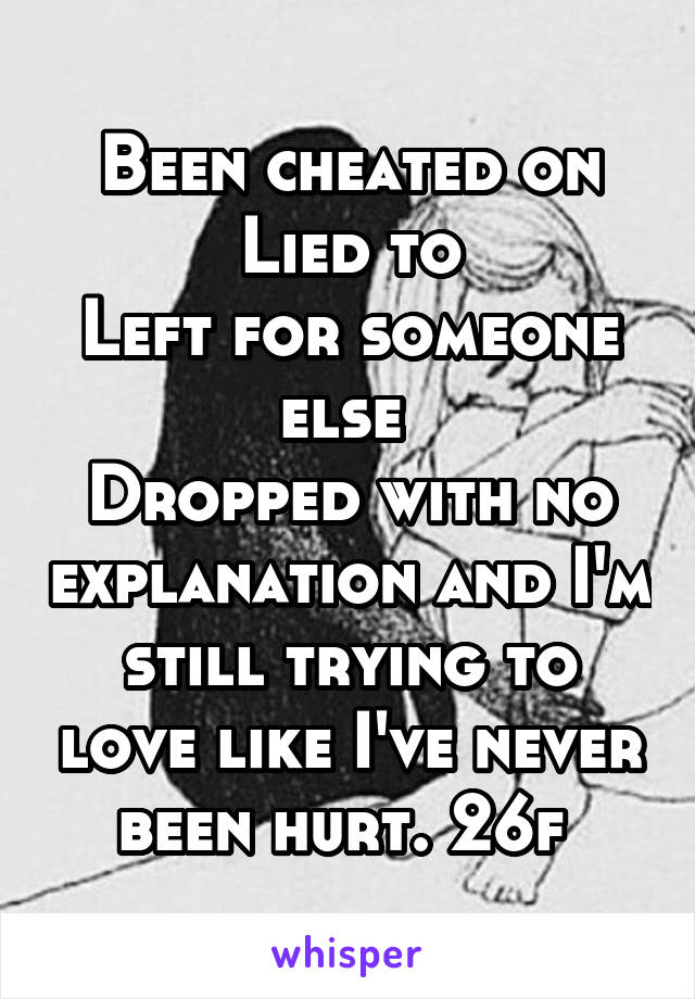 loving someone who has been cheated on