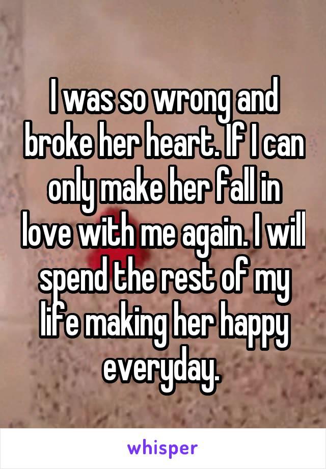 make her fall in love again