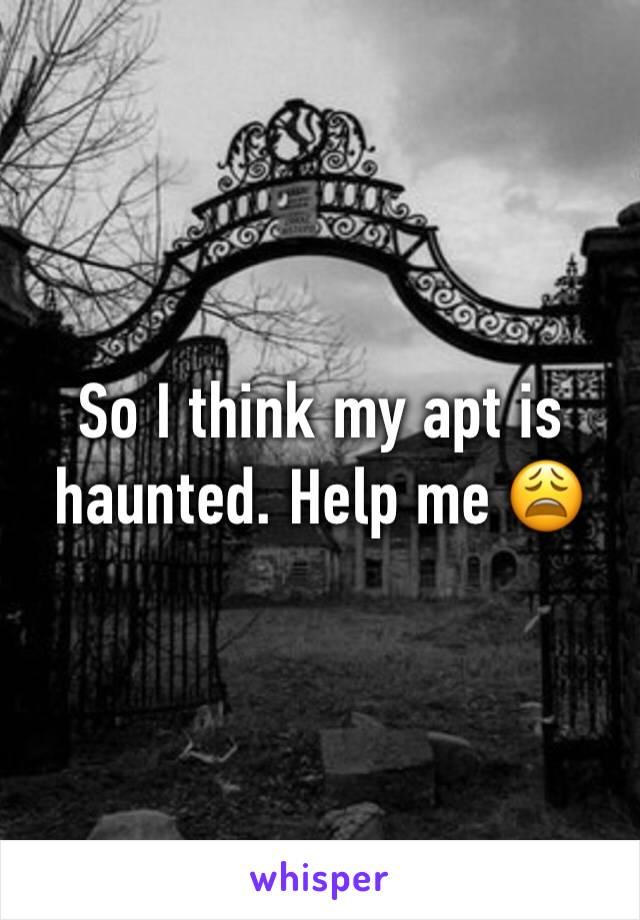 So I think my apt is haunted. Help me 😩