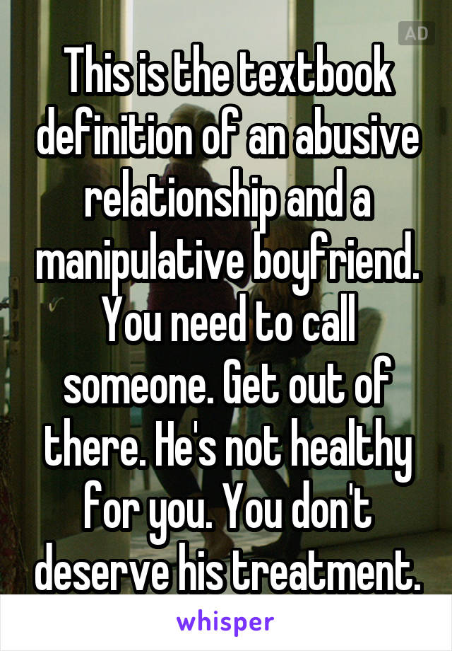 getting over a manipulative relationship