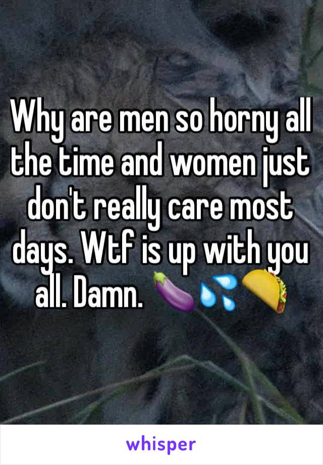 why are men horny