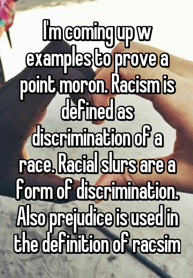 defining racism and the difficulties of proving discrimination Race, racism and health: research on self-reported racism and health defining conceptualizing and added effects of racism and discrimination.