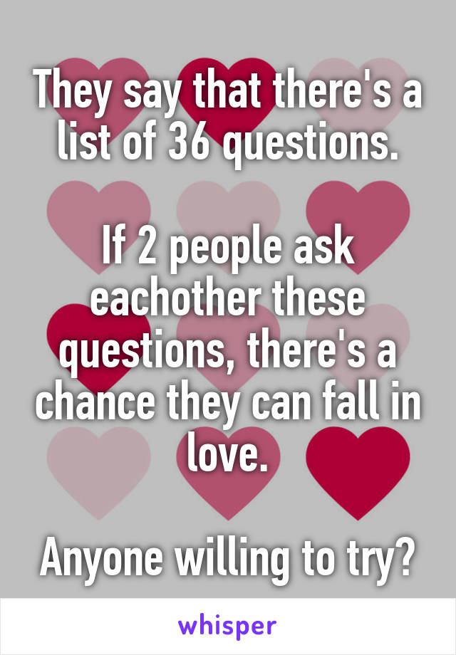 36 questions to fall in love list