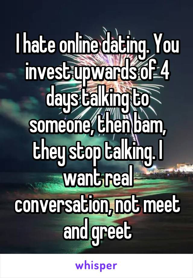 How To Stop Talking To Someone Online Dating