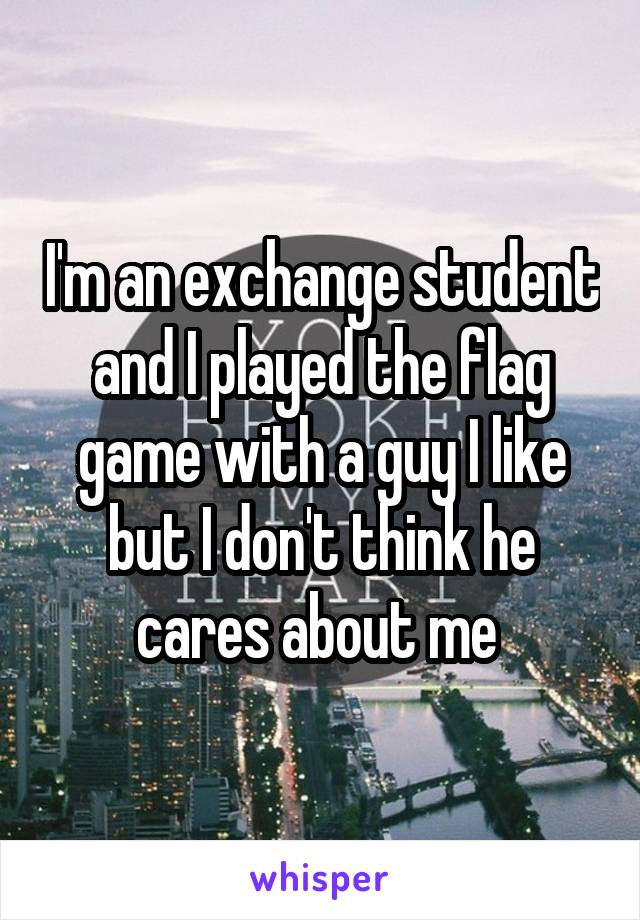 I M An Exchange Student And I Played The Flag Game With A