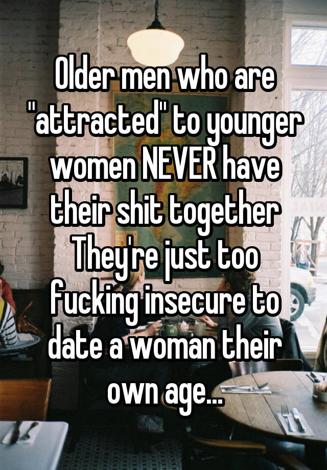 why are men attracted to younger women