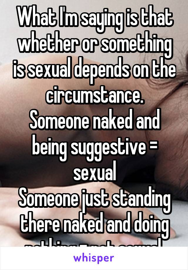 Something Sexually Suggestive To Say