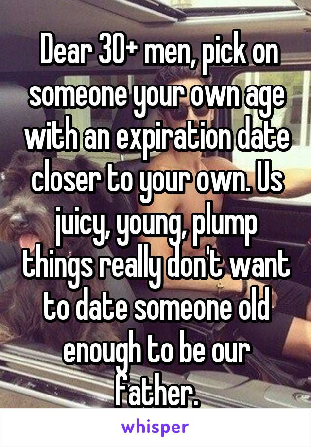 Dating a man your own age