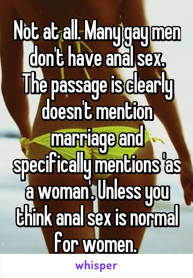 what men think about anal sex