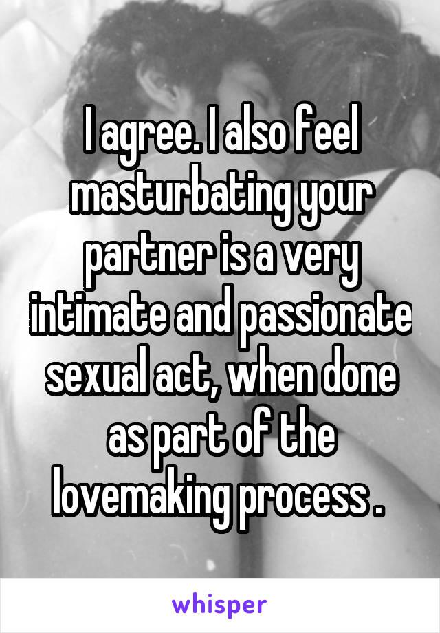 masturbating your partner