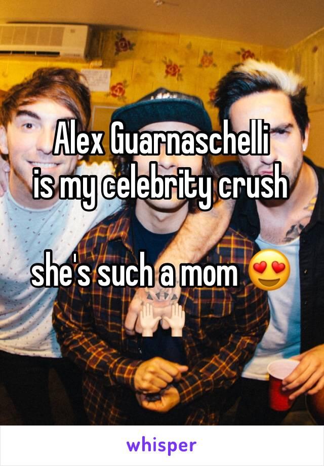 Alex Guarnaschelli  is my celebrity crush   she's such a mom 😍🙌🏻