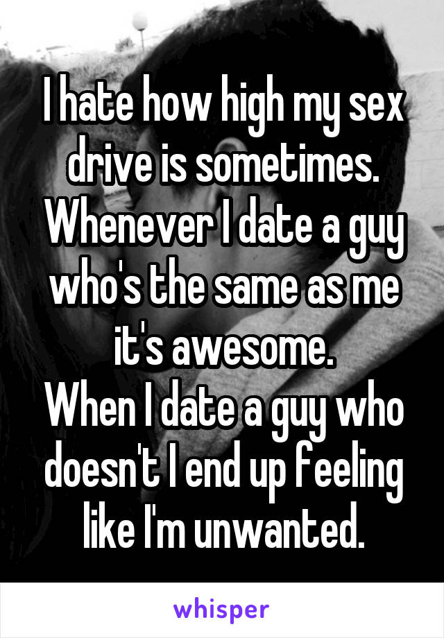 Dating a guy with a high sex drive