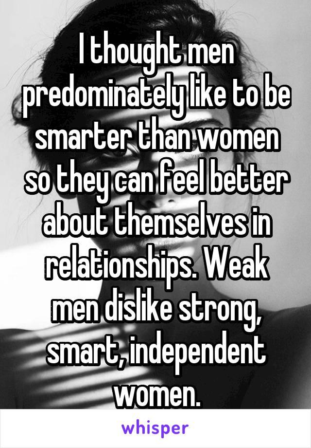 weak men in relationships