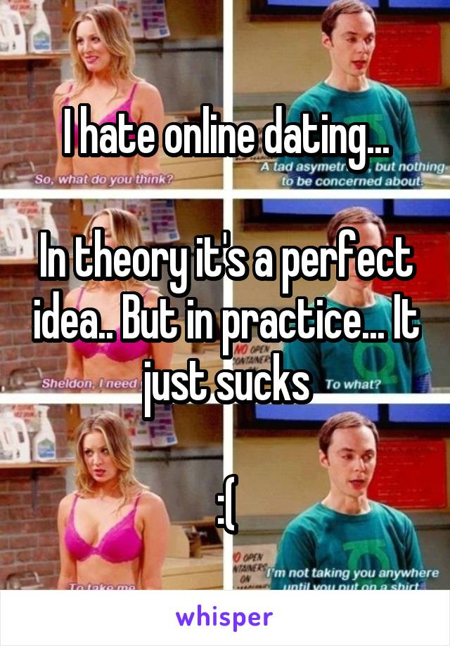 Online dating theory