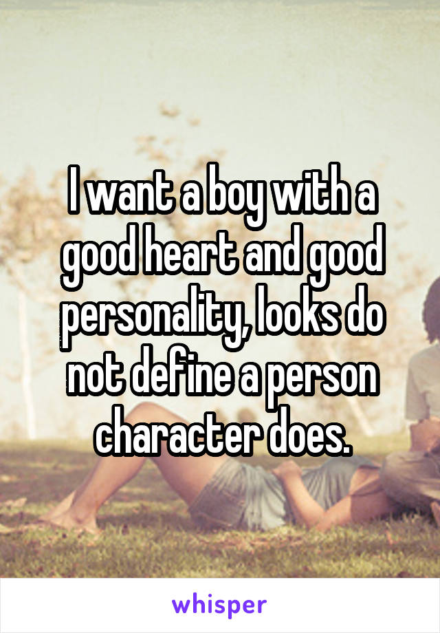 what does it mean to have a good personality