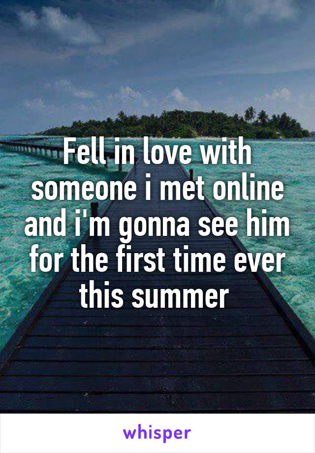 in love with someone online