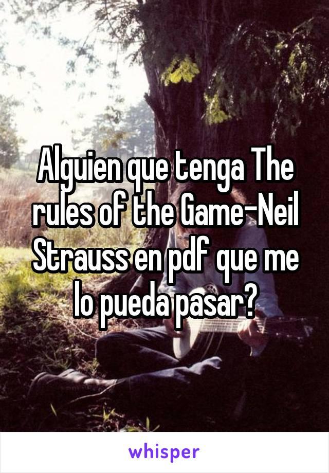 The Game Neil Strauss Pdf