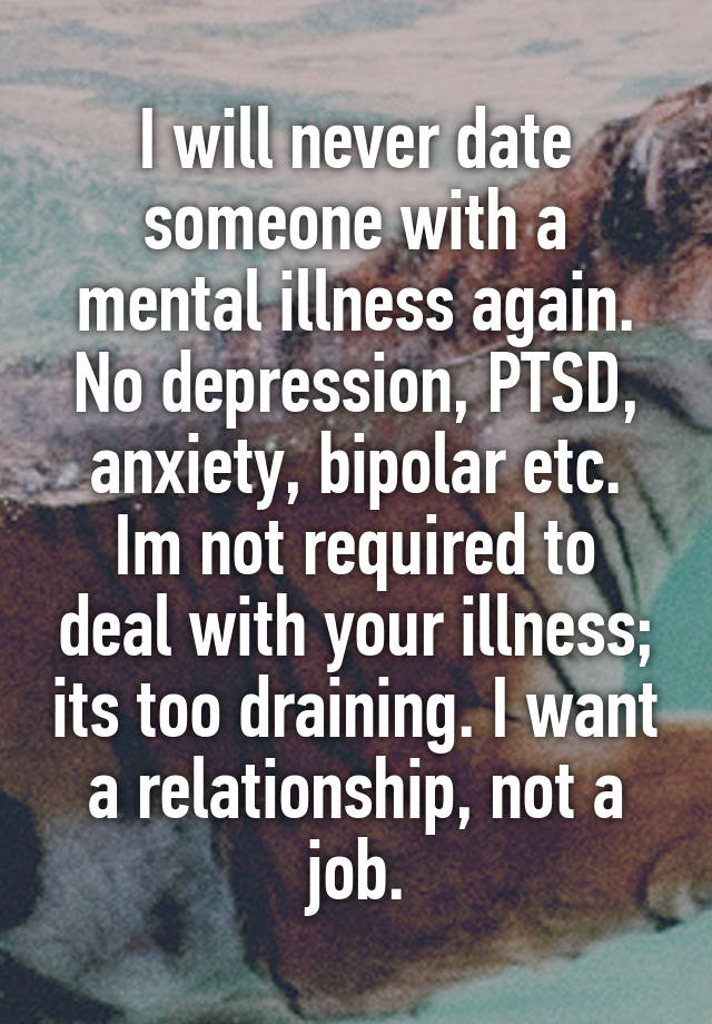 Dating someone with depression and ptsd