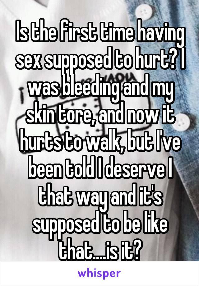 Cause bleeding fist sex