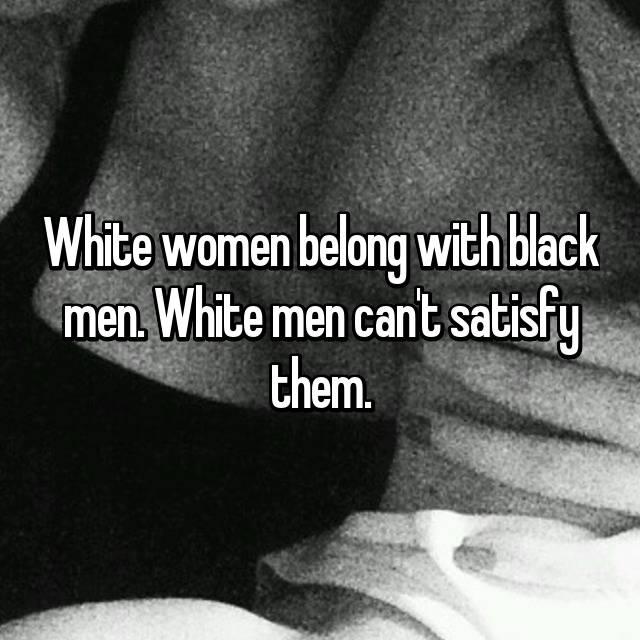 Can white men satisfy black women