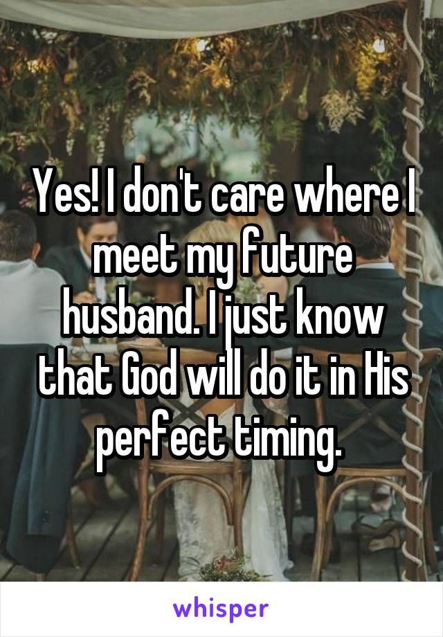 Where to meet a husband