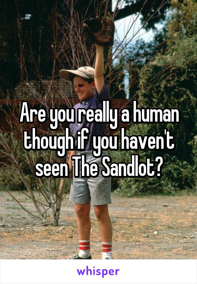 Are you really a human though if you haven't seen The Sandlot?
