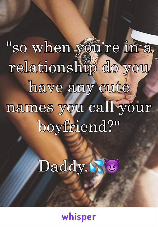 names you can call your boyfriend