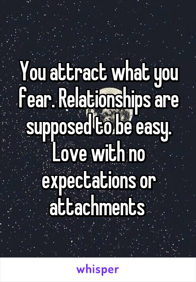 fear of attachment relationships