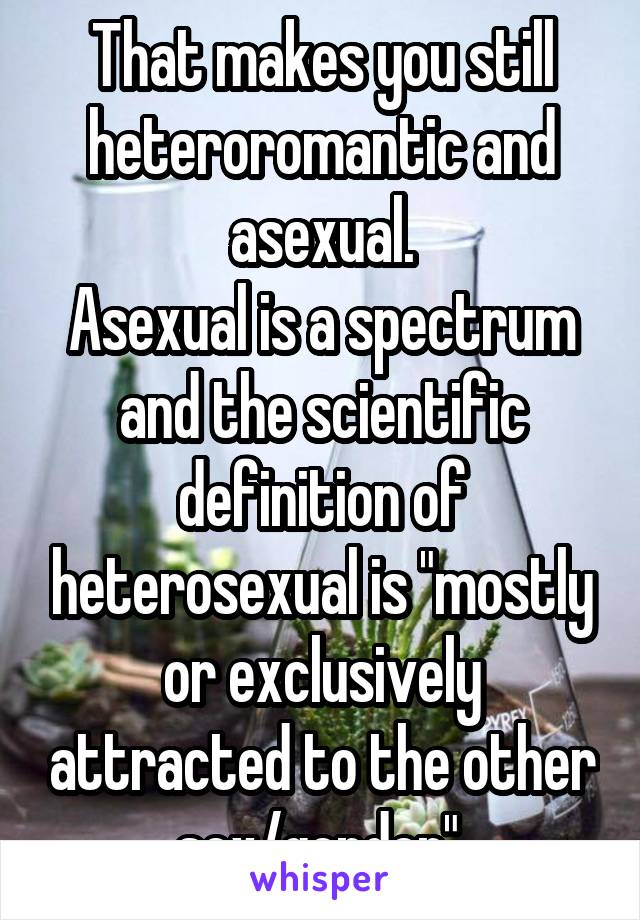 What is a heteromantic asexual definition