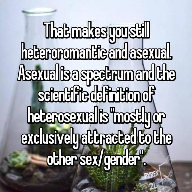 Heteroromantic asexual definition science