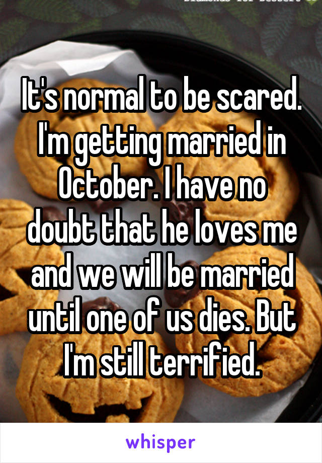 he loves me but is afraid of marriage