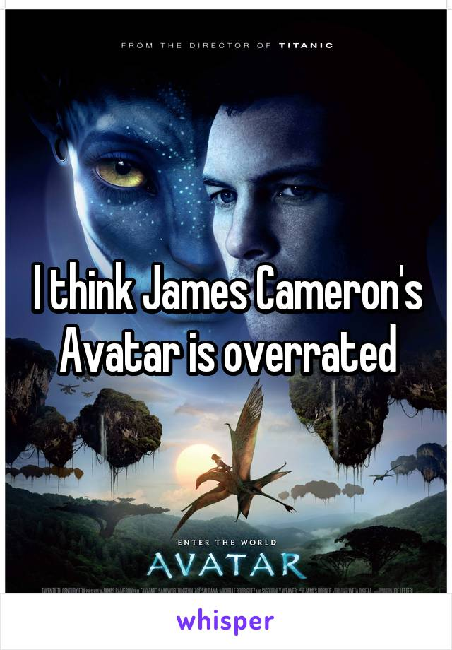 I think James Cameron's Avatar is overrated