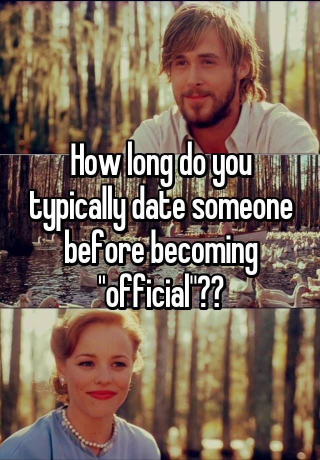 Dating before becoming official
