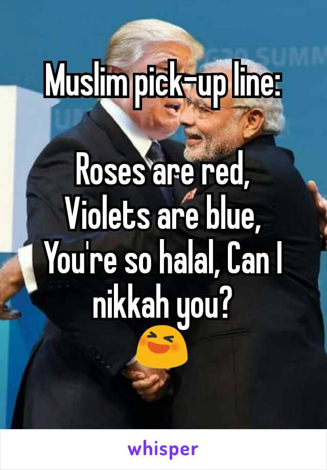 Muslim chat up lines