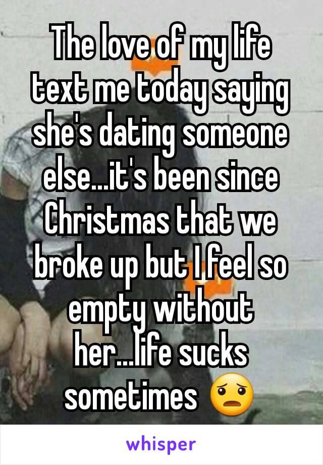 Feeling empty dating