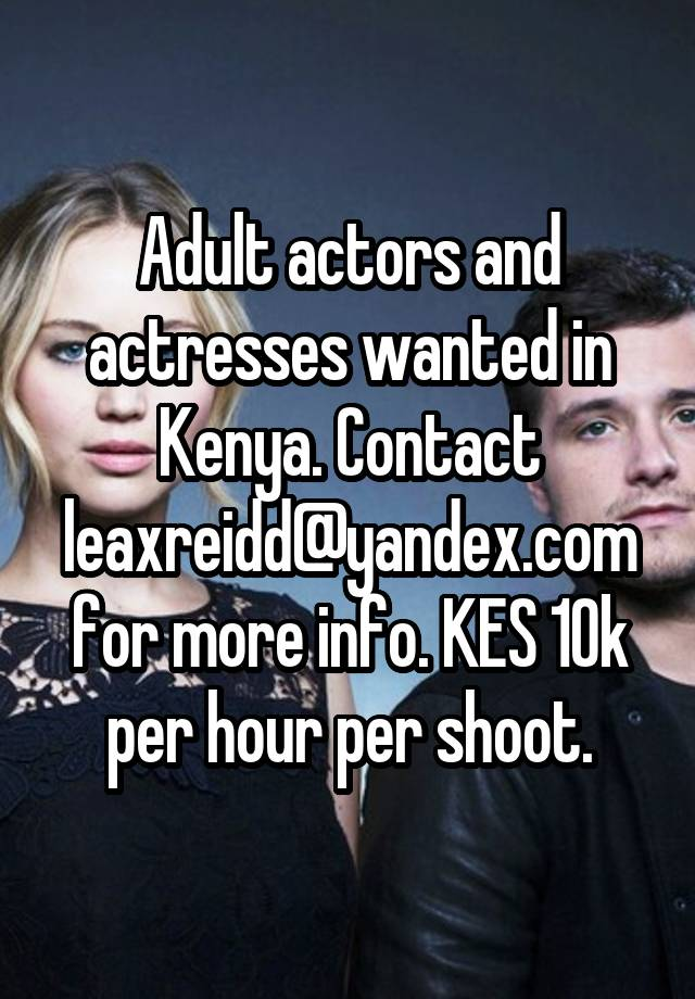 Male adult actors needed