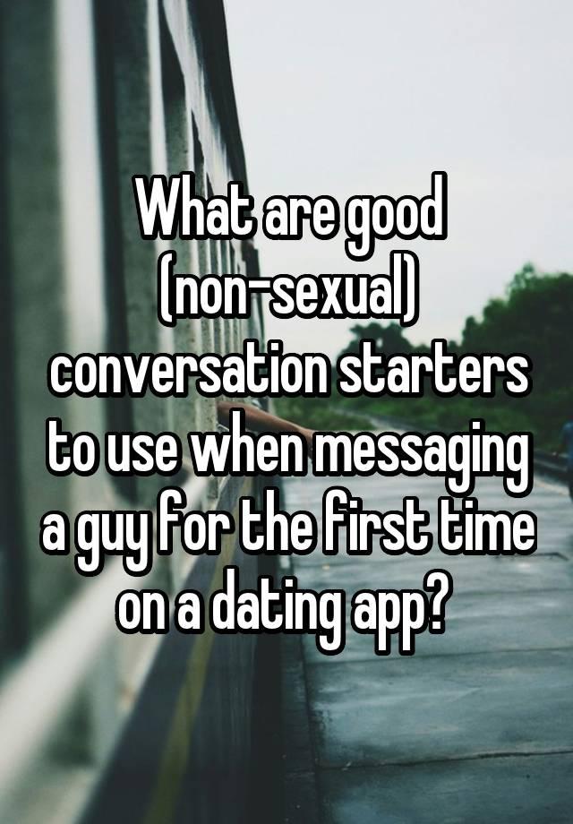 sexual conversation starters