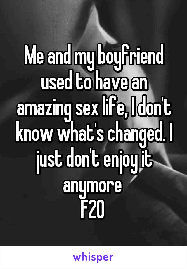 I don t enjoy sex anymore