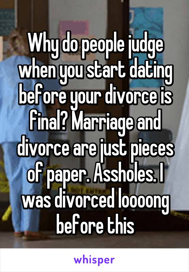 Married before divorce was final